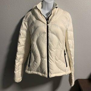 Cream Lululemon Down Puffer Coat